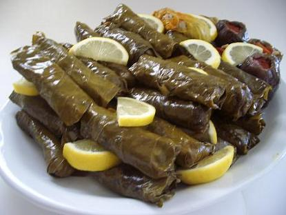 Stuffed Grape Leaves with Rice & Grated Vegetables (Dolmathakia Yialantzi)