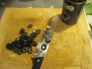 slice olives