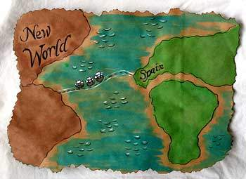 Columbus Day homeschooling crafts — map