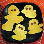 Whole Wheat Pumpkin Pancake Ghosts