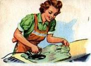 Happy Homemaker Ironing