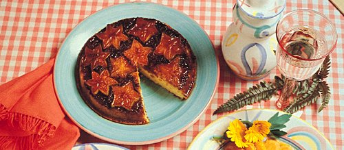 Scrumptious Star Fruit Upside Down Cake