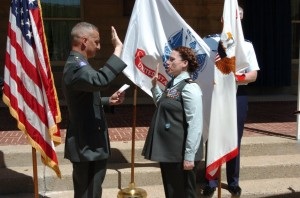 my sister-in-law, promotion to LTC, 2006