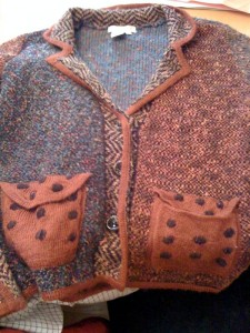 Coldwater Creek knit sweater. Retail price $89.95. I purchased this sweater for $4.95