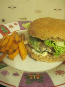 basil turkey burger