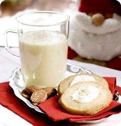 Eggnog with nutmeg, Eggnog Cookies, & icing