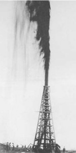 Creation: Spindletop Gusher 1901 BW