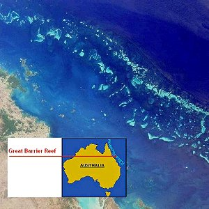 The Great Barrier Reef off the coast of Australia is the world's oldest and largest oceanic reef formation