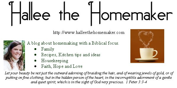 Hallee the Homemaker's Business Card