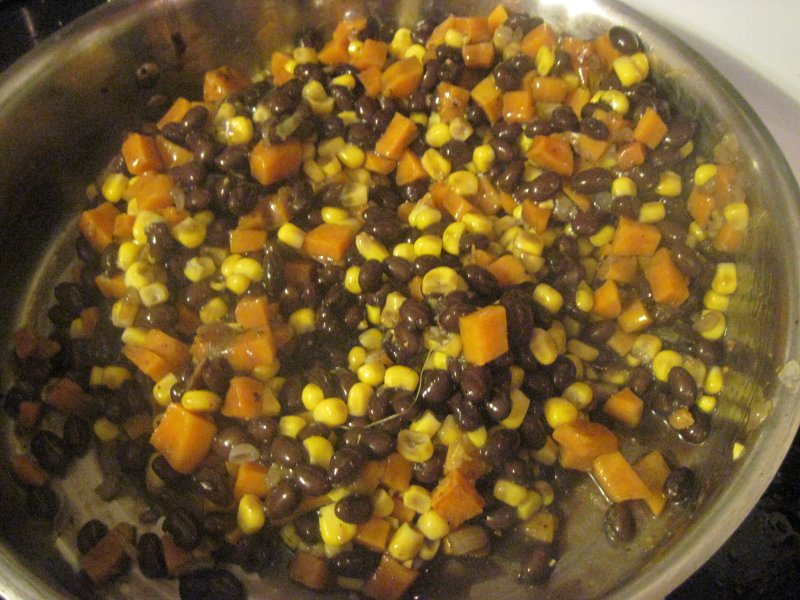 Hearty Sweet Potato & Black Bean Hash