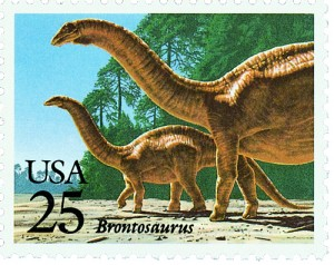 Creation: 25 cent Brontosaurus stamp