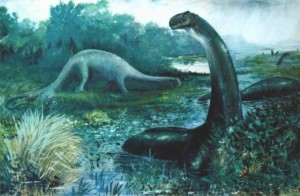 Creation: Brontosaurus in Swamp (Artist impression)