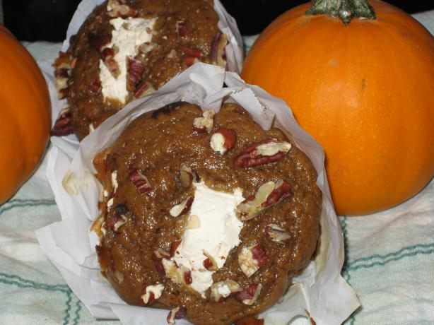 Whole Wheat Pumpkin Cream Cheese Muffins