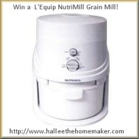 Win This L'Equip NutriMill Grain Mill