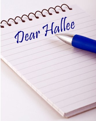 dear hallee notebook