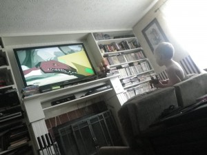 A picture of the television taken by Scott