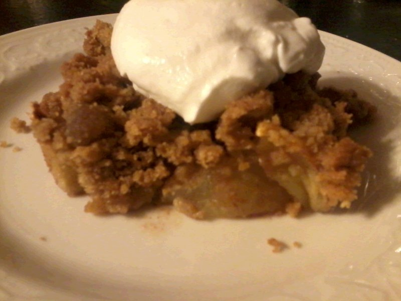 Whole Wheat Brown Sugar Apple Crisp with Cinnamon Whipped Cream