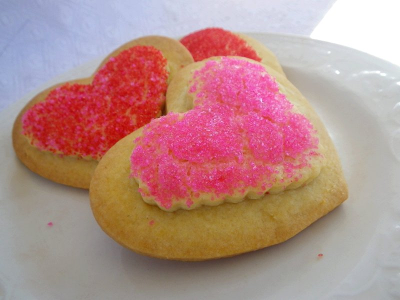 Double Decker Valentine Cookies