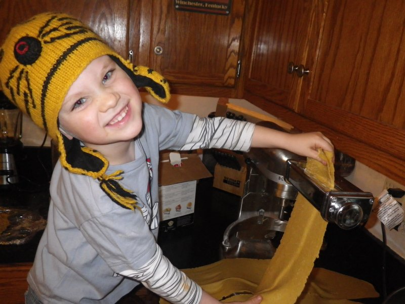 Homemade Pasta – So Easy a Four-Year-Old Can Do It