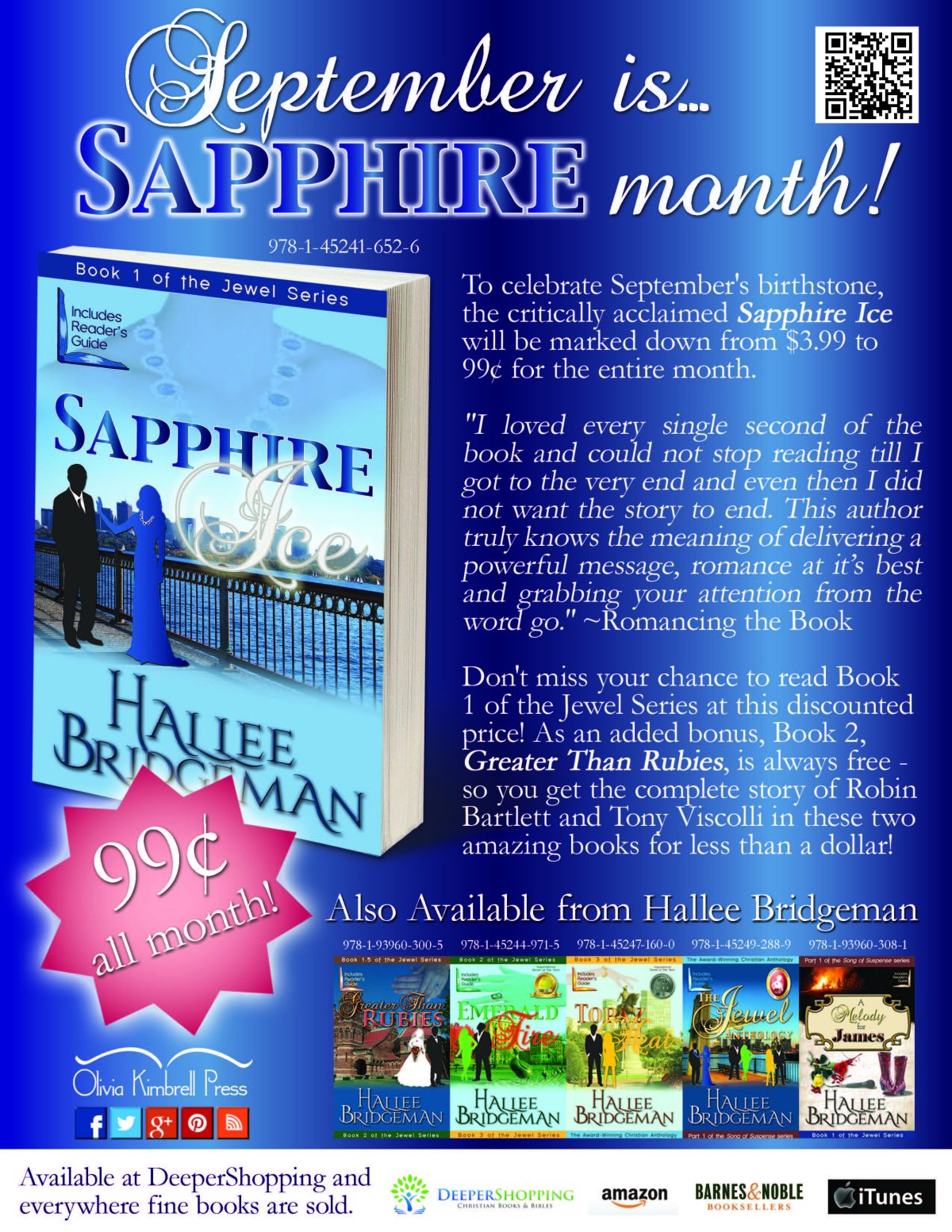 Sapphire Ice is 99 Cents ALL Month Long!