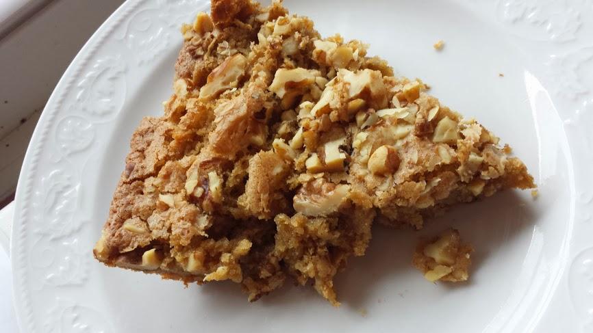 Brown Sugar & Walnut Skillet Cake