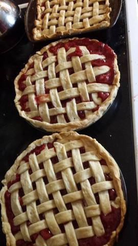3 cherry pies